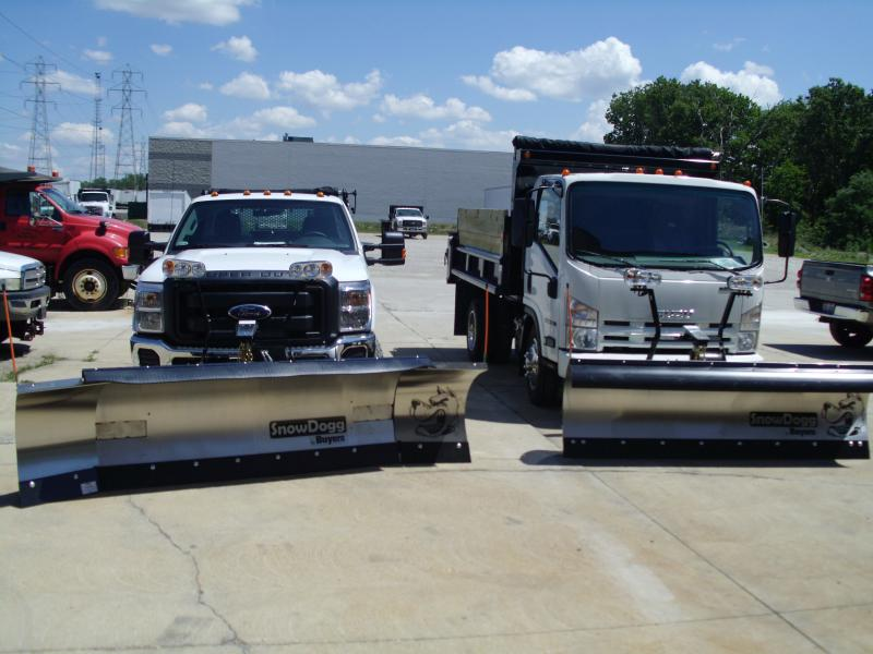 Snow Dogg Plow 8-10 Expandable On Ford 8' HD on Isuzu