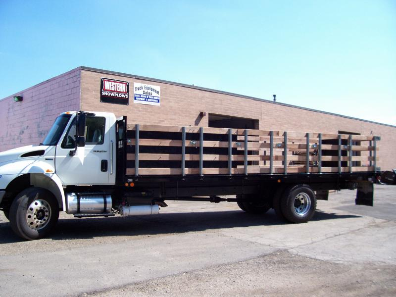 24' Stake Body W/ Hardwood Stake Racks