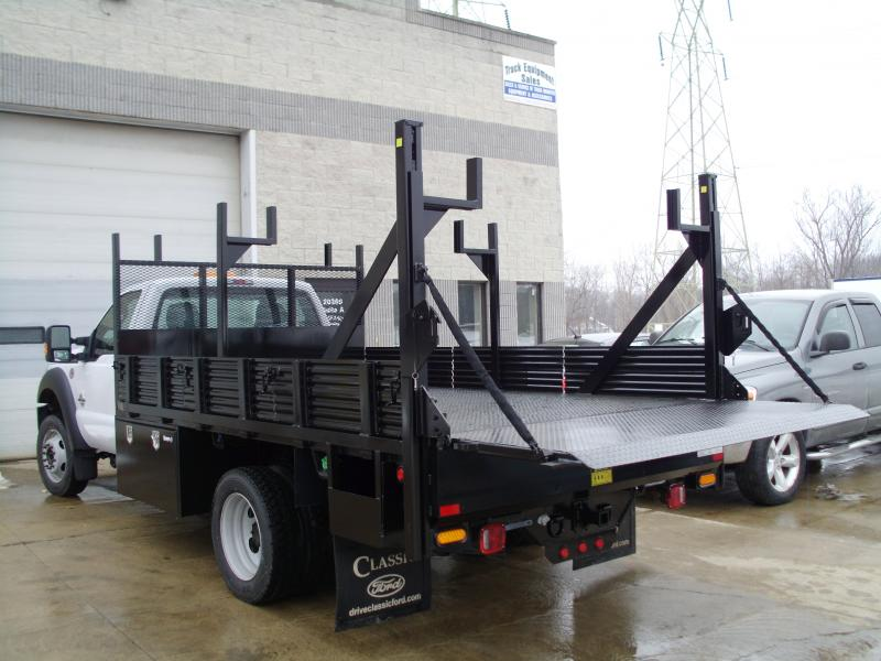 Custom Platform Body with Ladder Rack and Thieman TVL30 Railgate