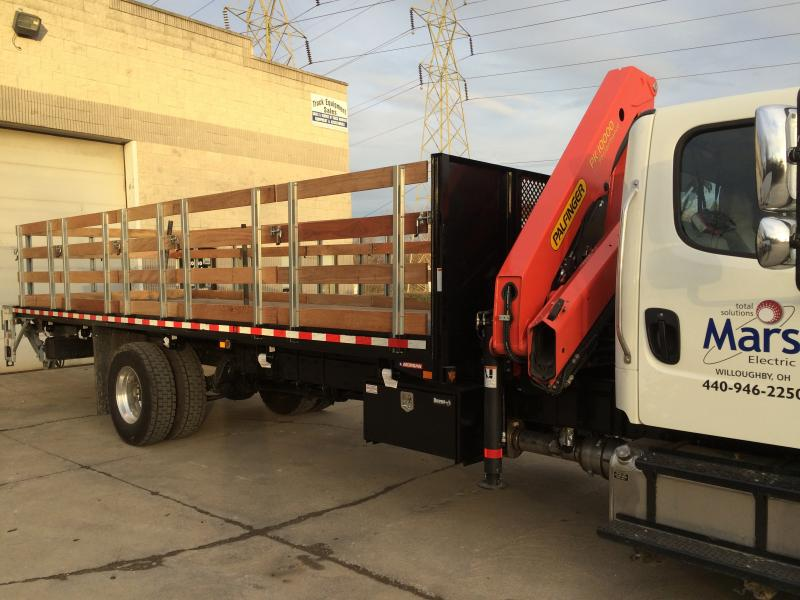 26' Platform With Galvanized Liftgate, Hardwood Racks, and Crane