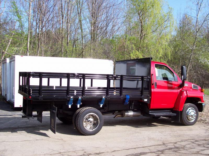 "12' Stake Body With 24"" Racks"